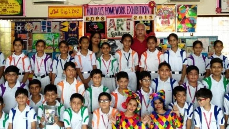 Pupils exhibited the activity-based work given by teachers