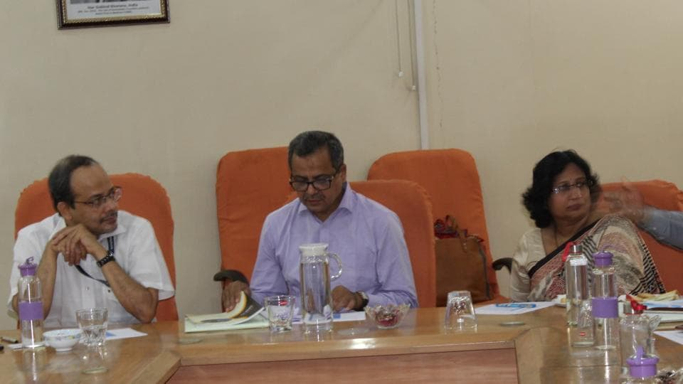 (From left) Dr Samiran Panda, director, National Aids Research Institute; Suleman Khan, joint secretary, ministry of family welfare and medical education of Bangladesh and Dr Sheela Godbole from Indian Council of Medical Research.