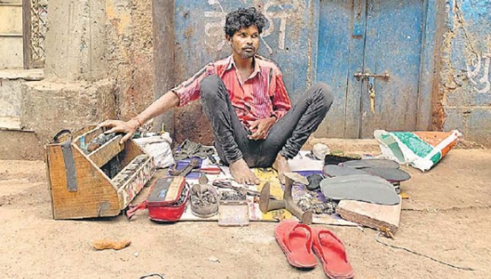 Ram Sevak's  father, also a shoeshine, gave him the box for his new life in the Capital,  some 15 years ago.