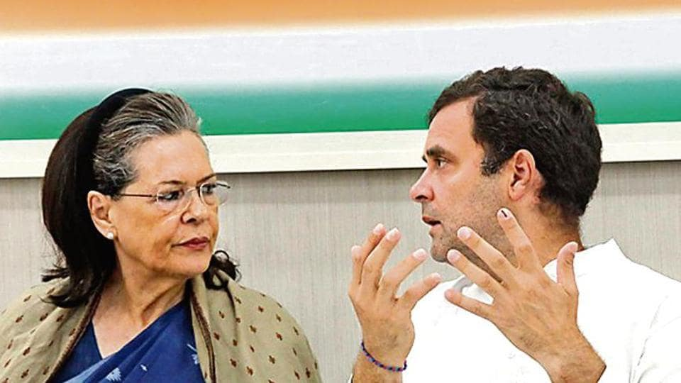 The LS debacle forced Rahul Gandhi (right) to offer his resignation to the CWC  on May 25, since then Sonia Gandhi has stepped in to fill the leadership vacuum.