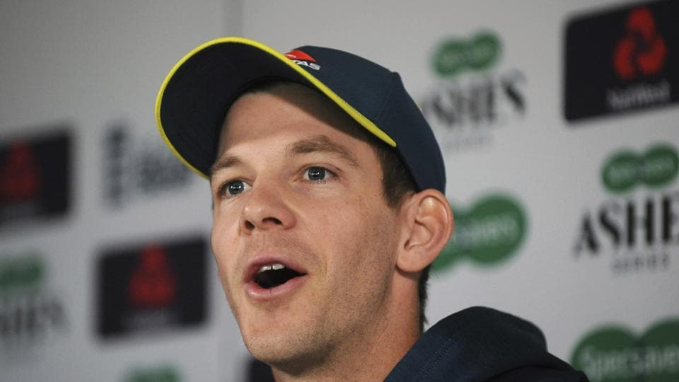 Australia's captain Tim Paine speaks during a press conference before the first Ashes Test match between England and Australia at Edgbaston in Birmingham, England, Wednesday July 31, 2019. The first Test match starts Thursday Aug. 1 at Edgbaston.