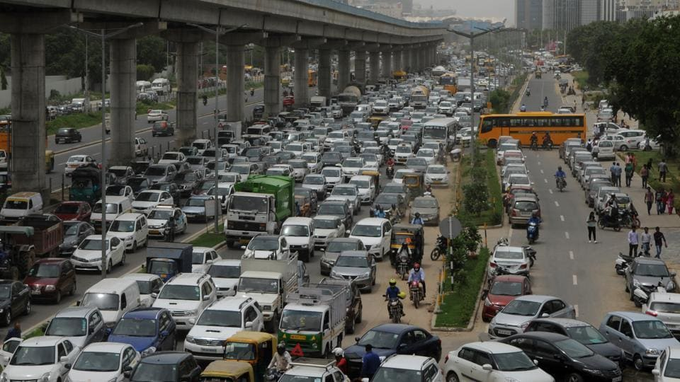 Golf Course Road  in Gurugram has almost 16 lanes for motor vehicles but not even 16 inches for pedestrians.