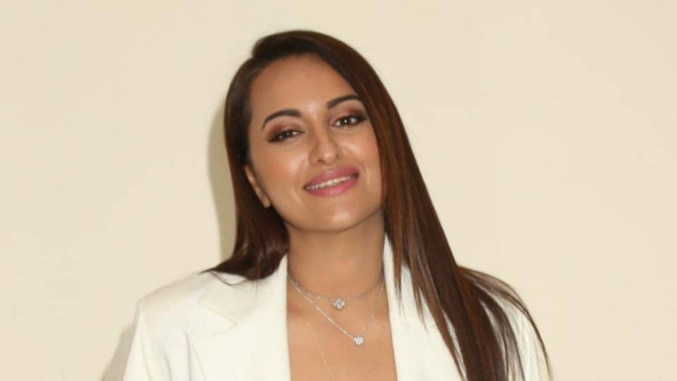 Sonakshi Sinha during the promotions of her upcoming film Khandaani Shafakhana.