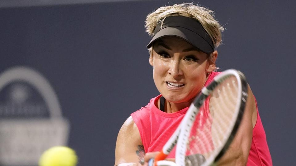 Bethanie Mattek-Sands, of the United States, in action during a match.