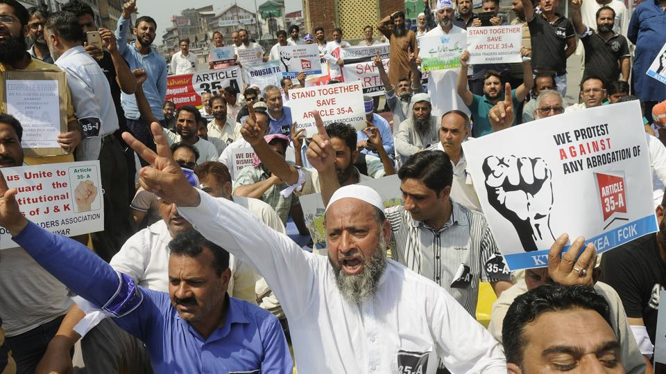 What has raised the hackles in Kashmir is the Modi government's emphatic assertion on its long-held ideological opposition against the Article 35A and the Article 370.