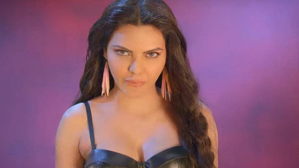 Sherlyn Chopra in a still from her debut single, Kataar.