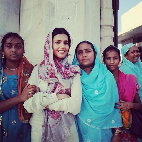 The author with devotees, who keep alive the folklore, songs and legends of Sati or Sita, that embodiment of the pain and suffering of womankind. Annie Ali Khan, who died tragically last year, accompanied these women and others like them on pilgrimages to shrines across Pakistan.