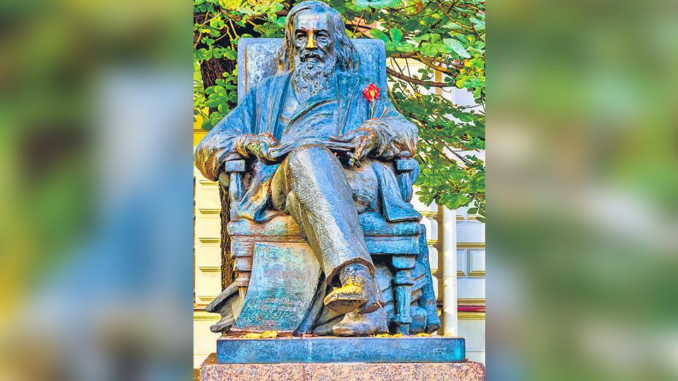 Russian scientist Dmitri Mendeleev.