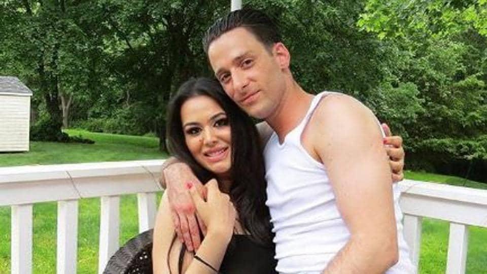 Trishala Dutt poses with her late boyfriend.