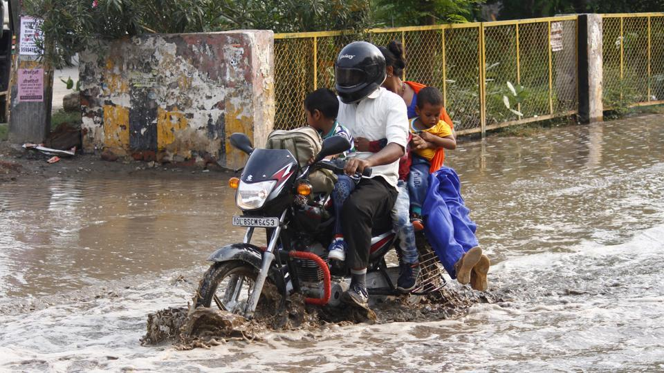 Rains lashed select areas of the city on Friday areas, leaving most of them waterlogged.