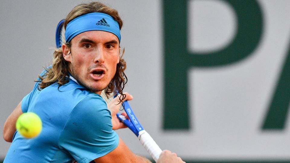 File image of Greece tennis star Stefanos Tsitsipas in action during a match.