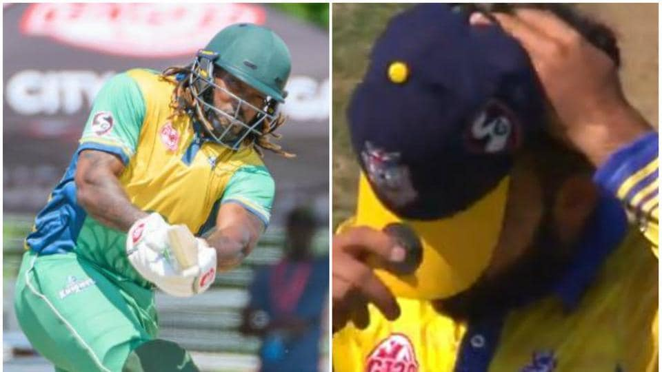 Chris Gayle hit Shadab Khan for 32 runs in 1 over in Global T20 Canada