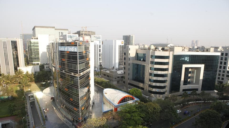 Top angle view of BKC from Wockhardt terrace, BKC, Bandra in Mumbai. After working on the plan since September 2016, BMC's planning committee approved the final draft of the DP 2034 for these three areas in May 2019 and it has been sent to the state government for its approval.