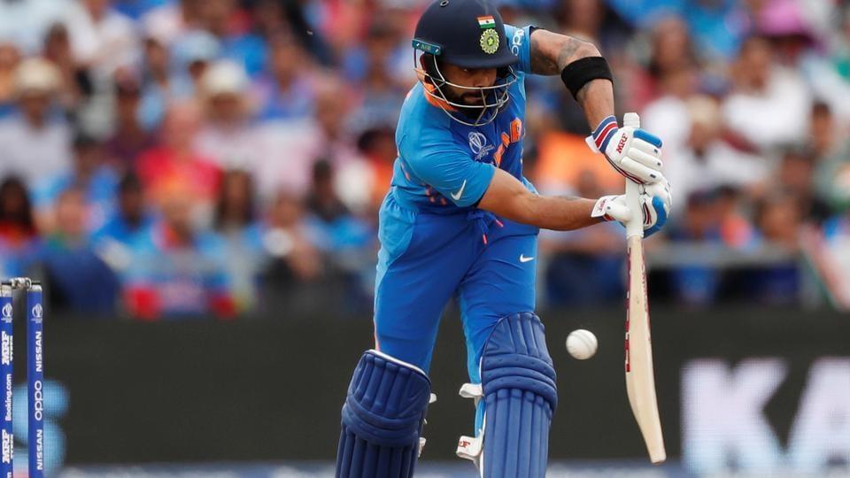 India's Virat Kohli in action.