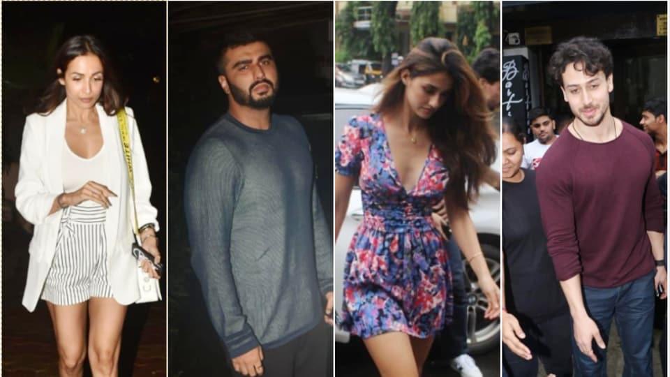 Malaika Arora, Arjun Kapoor, Disha Patani and Tiger Shroff clicked by the paparazzi.
