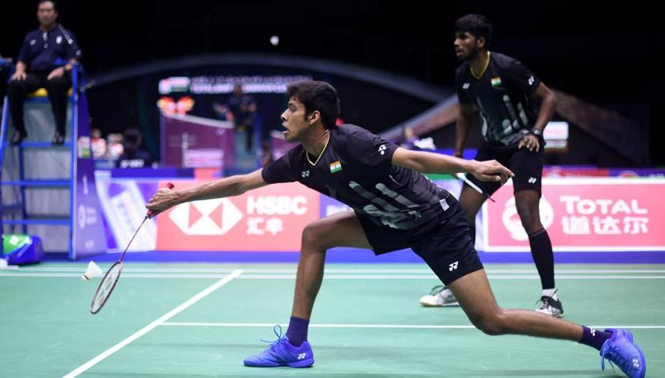 India's Chirag Shetty and Reddy Satwiksairaj Rankireddy at the 2019 Sudirman Cup world badminton championships.