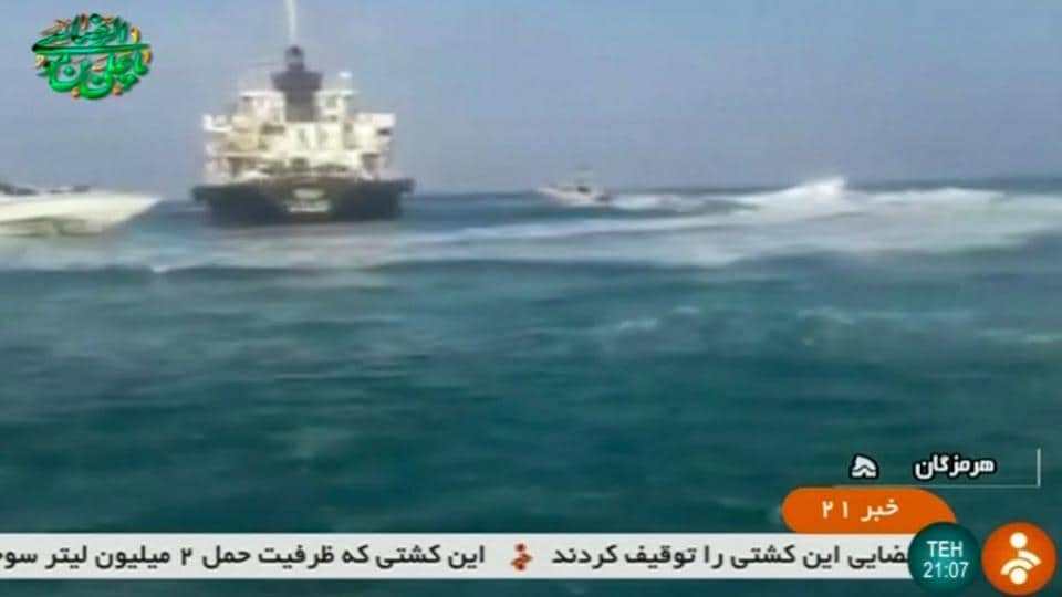 Iran seizes oil tanker in Gulf 'smuggling fuel to Arab states'