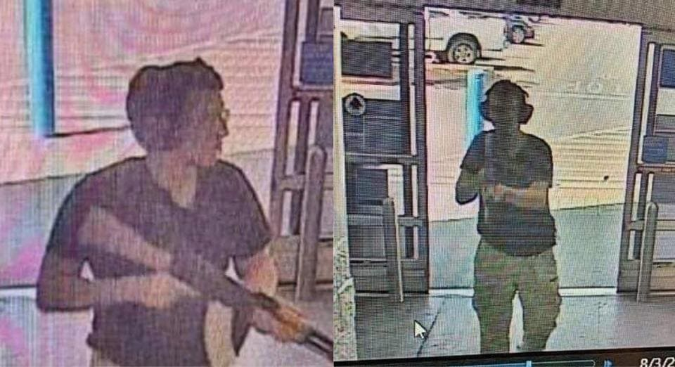 This CCTV image obtained by KTSM 9 news channel shows the gunman identified as Patrick Crusius, 21 years old, as he enters the Cielo Vista Walmart store in El Paso on august 3, 2019.