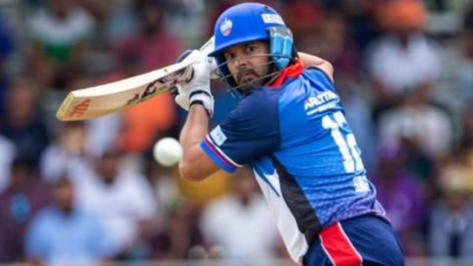 Yuvraj Singh in action during the Canada Global T20 League.