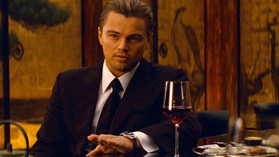Leonardo DiCaprio in a still from Inception.