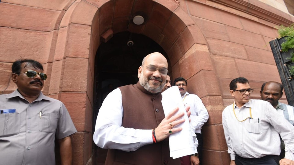 Shah also moved a bill proposing bifurcation of the state of Jammu and Kashmir into two union territories -- Jammu and Kashmir division and Ladakh.