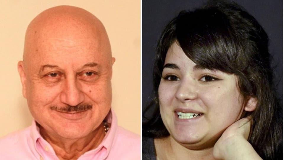 Actors Anupam Kher and Zaira Wasim represent opposite ends of the spectrum.