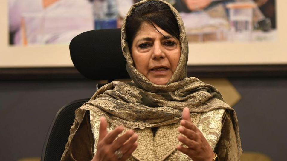 According to Shiv Sena mouthpiece Saamana, former Jammu and Kashmir Mehbooba Mufti should be declared a terrorist and sent to jail.
