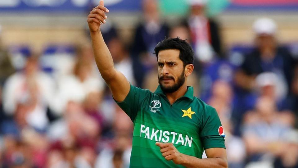 Cricket - ICC Cricket World Cup - England v Pakistan - Trent Bridge, Nottingham, Britain - June 3, 2019 Pakistan's Hasan Ali reacts Action Images via Reuters/Jason Cairnduff