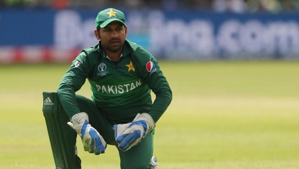 Sarfaraz Ahmed at the ICC Cricket World Cup.
