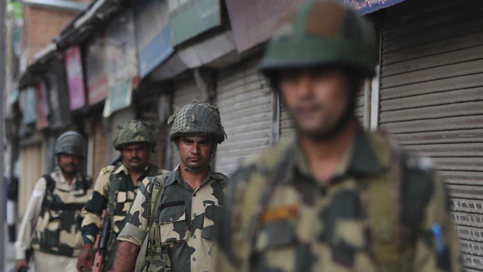 Security forces patrol in Srinagar, Sunday, Aug. 4, 2019.