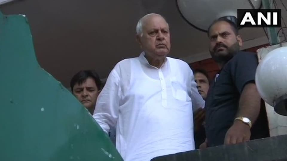 "Speaking to news channels, Farooq Abdullah said: ""I am not allowed to go out and come out of the house…I feel sad that Home Minister can lie like this."""