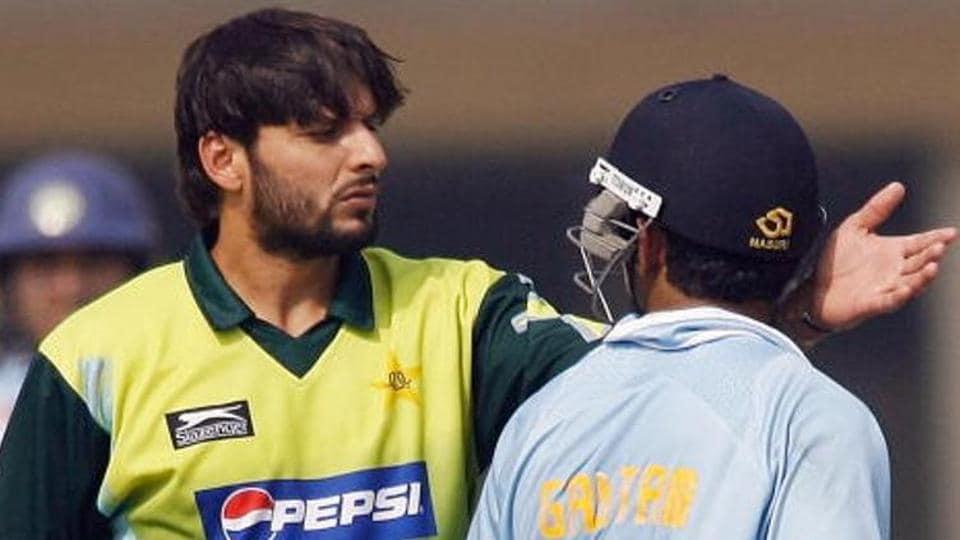 File image of former India cricketer Gautam Gambhir and former Pakistan captain Shahid Afridi.