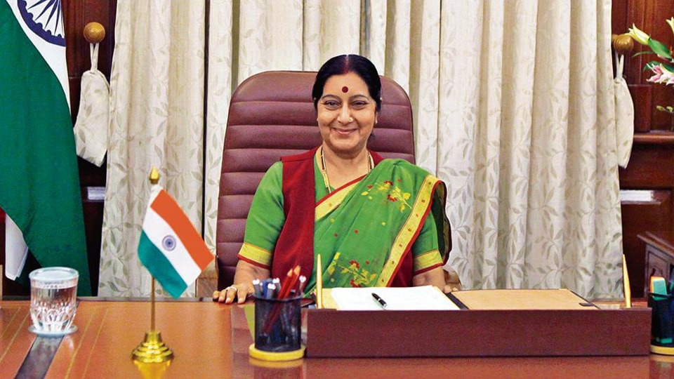 Sushma Swaraj was external affairs minister in Narendra Modi's first government