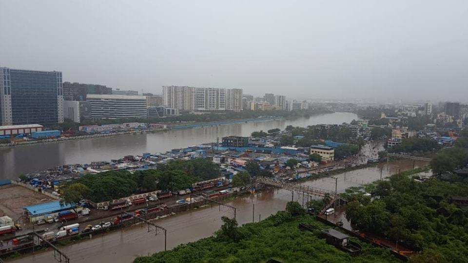 The Shiv Sena has blamed encroachments along river banks for flooding in Mumbai.