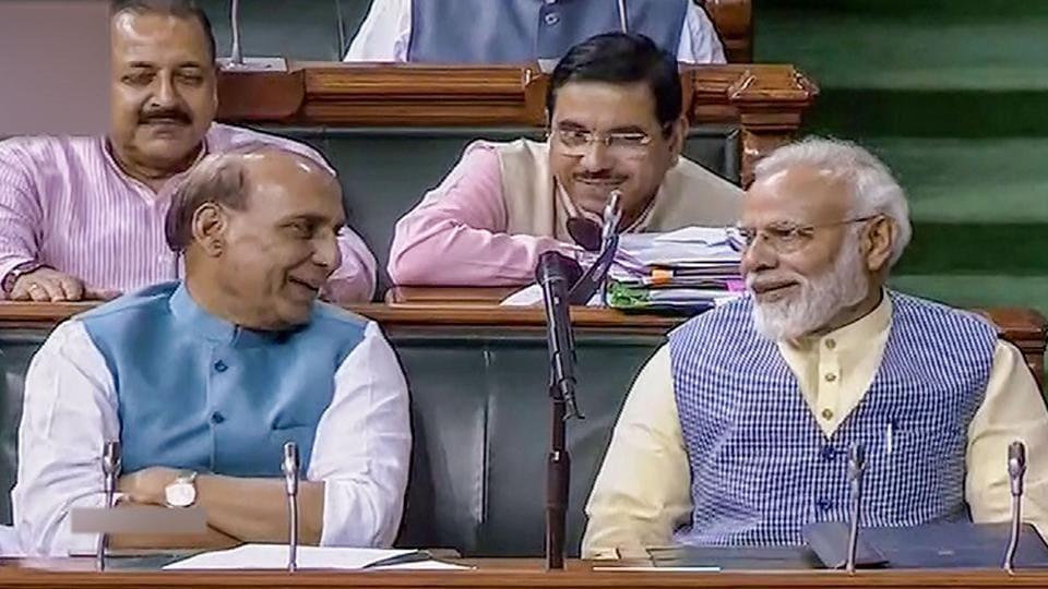 Prime Minister Narendra Modi and Union Defence Minister Rajnath Singh.