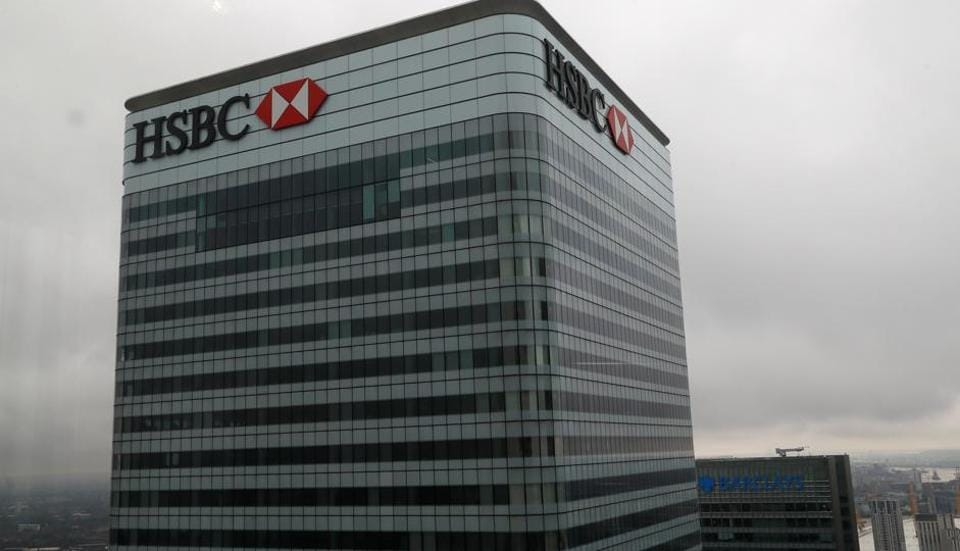 A HSBC and a Barclays bank building is seen at Canary Wharf in London, Britain May 17, 2017. REUTERS/Stefan Wermuth - RC12506A0300