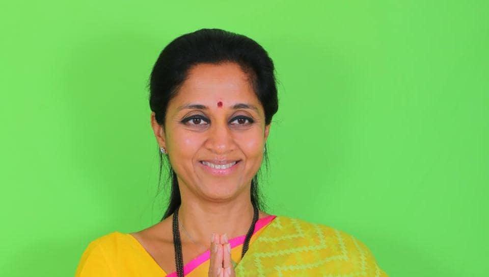 Pune, India - March 27, 2019: SUPRIYA SULE, NCP Lok Sabha candidate from Baramati