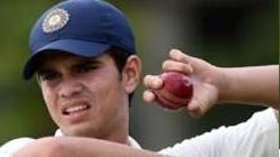 Arjun Tendulkar, son of Sachin Tendulkar, has been selected in Mumbai's squad for the Vizzy Trophy