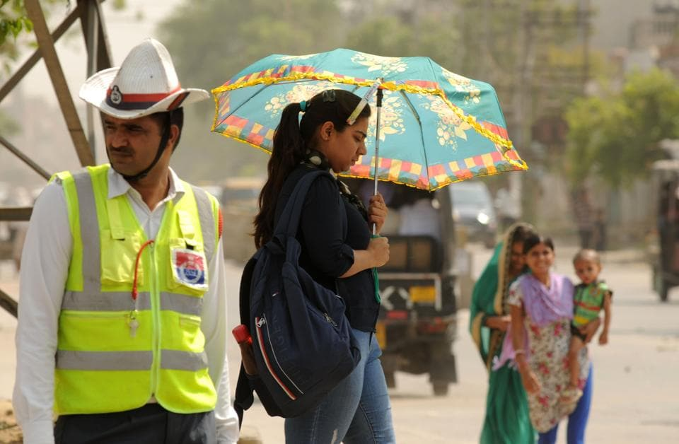 A maximum temperature of 28.4 degrees Celsius, six degrees below the normal, was recorded on Tuesday in Gurugram.