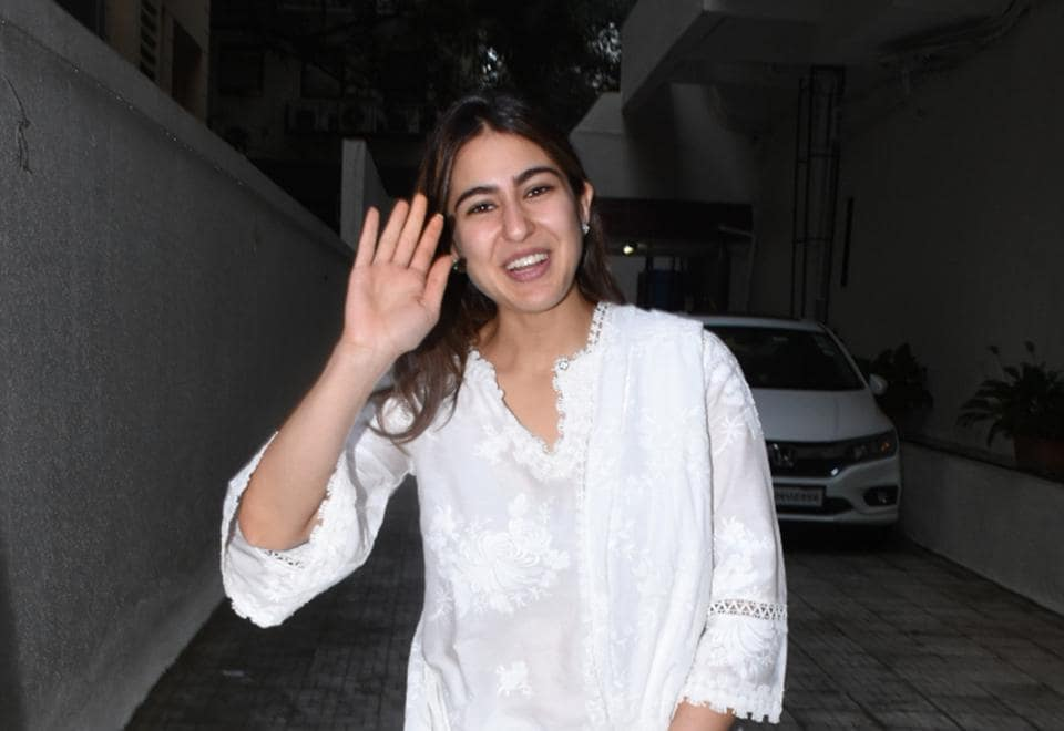 Sara Ali Khan returned from Lucknow on Tuesday.