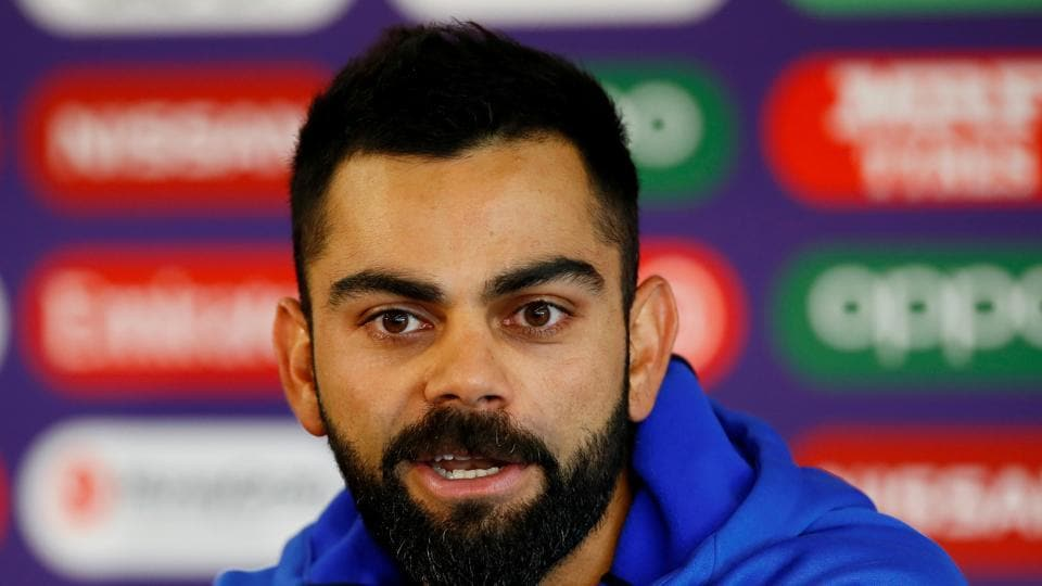 Virat Kohli reacts after India's victory in the thrid T20I against West Indies