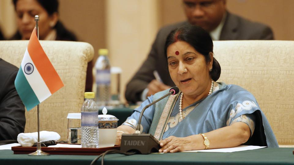File photo of deceased BJP leader Sushma Swaraj.