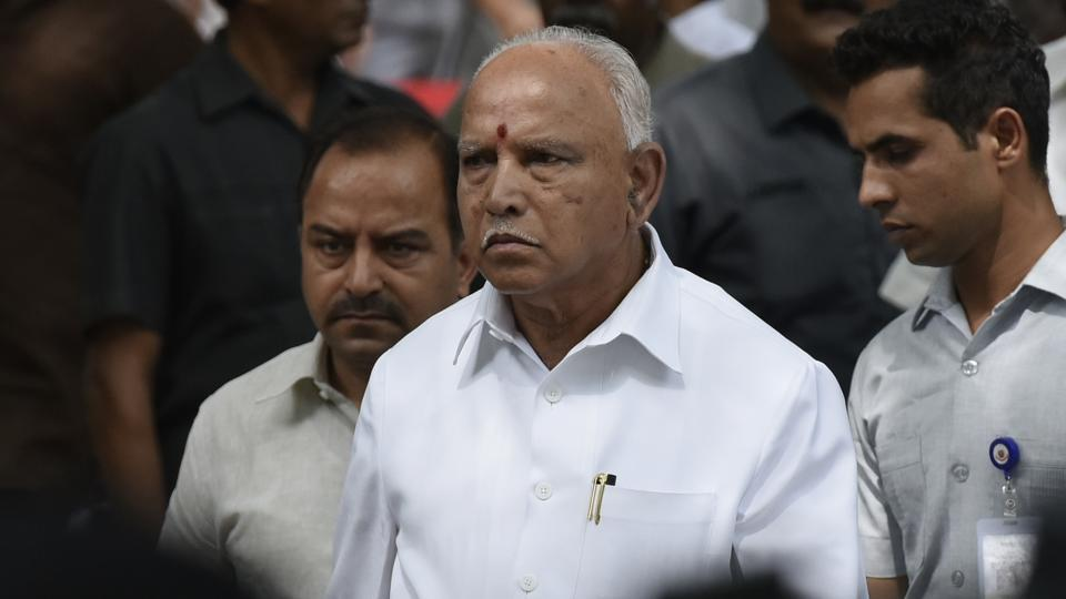 Karnataka Chief Minister B S Yediyurappa leaves after paying his last respects to former Minister of External Affairs Sushma Swaraj at her residence at in New Delhi on Wednesday.