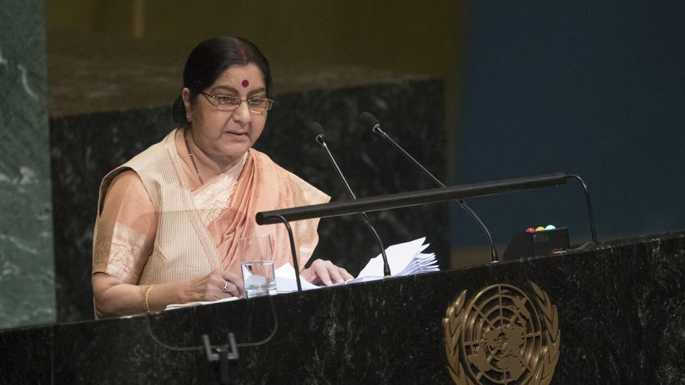 File image of Sushma Swaraj