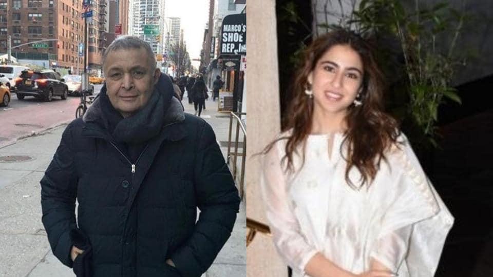 Rishi Kapoor praised Sara Ali Khan for carrying her own luggage.