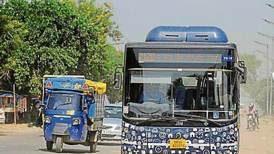 Department of heavy industry (under the ministry of heavy industries and public enterprises) announced the sanction of 5,595 electric buses to 64 cities, including Gurugram