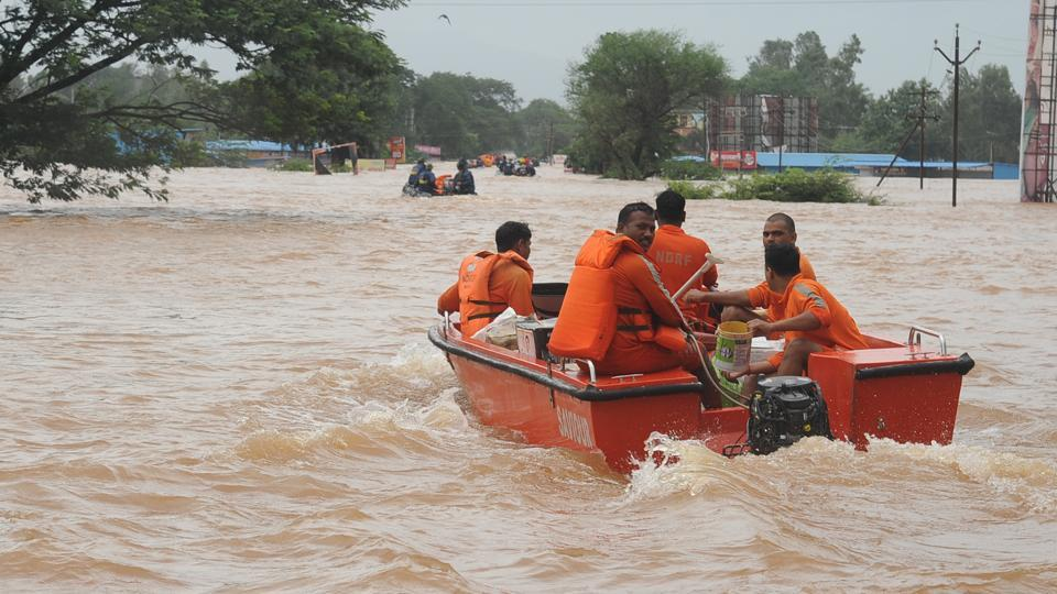 Pune, India - Aug. 8, 2019: Flood situation in Kolhapur, India, on Thursday, August 8, 2019. (Anil Velhal)