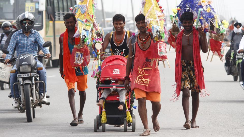 Kanwad Yatra: Faith on the move, barefoot | india news
