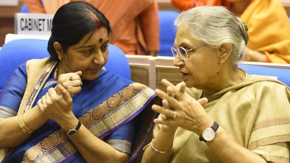 Sushma Swaraj abd Sheila Dixit