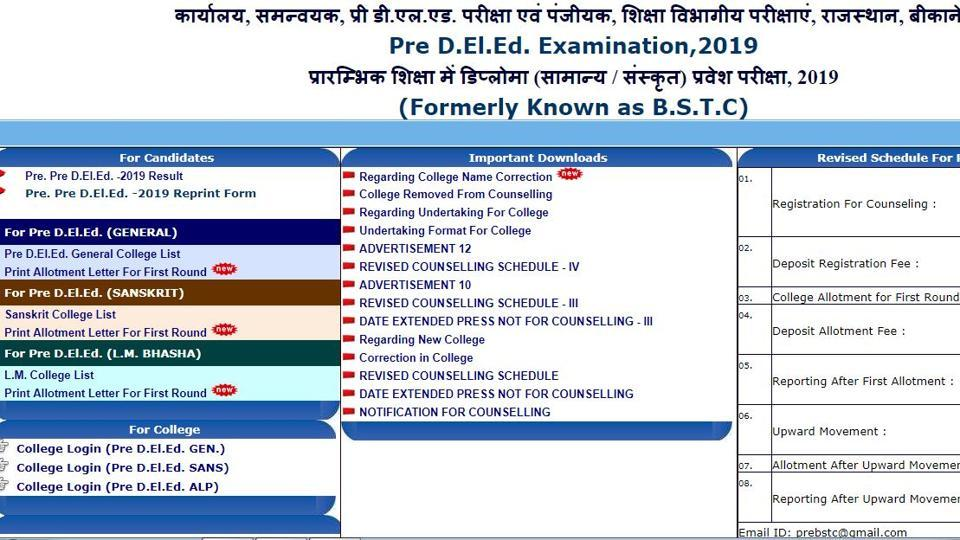 Announced: Rajasthan BSTC Counselling Result 2019 declared, here's